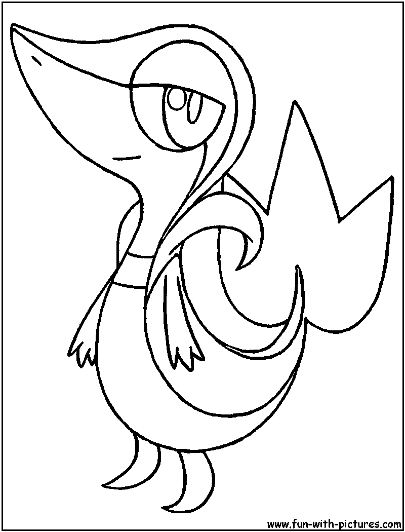 snivy coloring pages snivy coloring sheets coloring pages