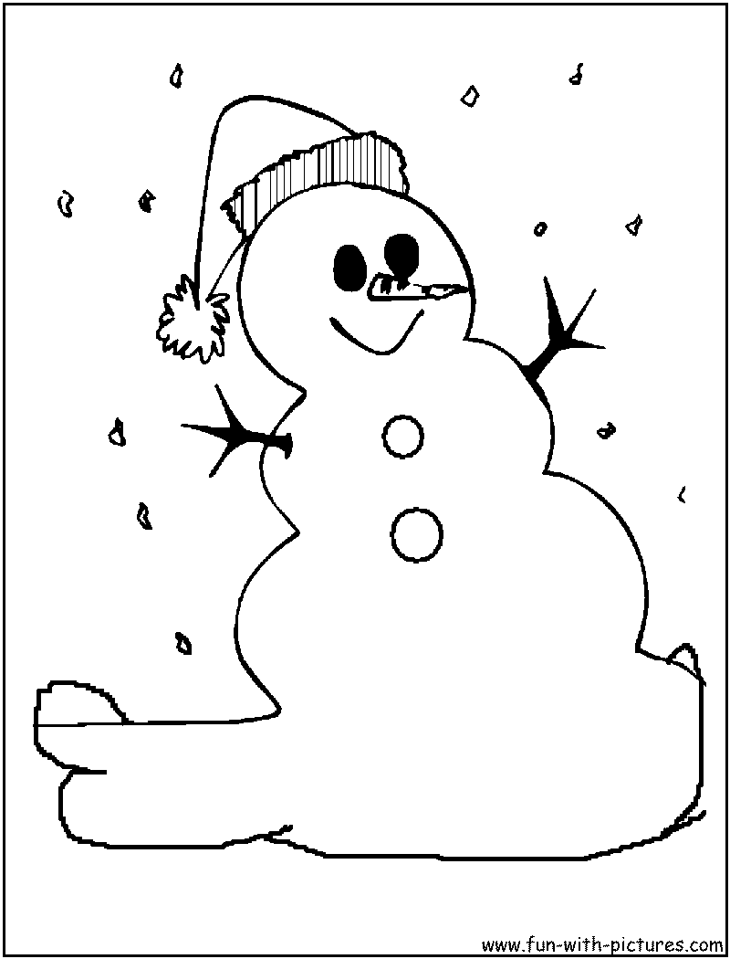 Snowman coloring pages printable