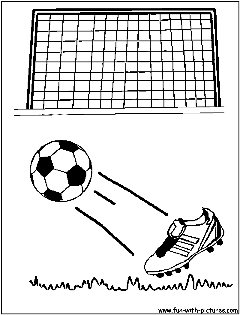 soccer football coloring page