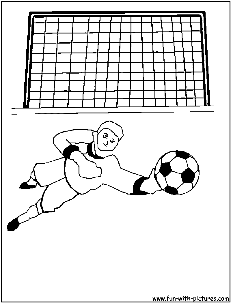 soccer goalkeeper coloring page