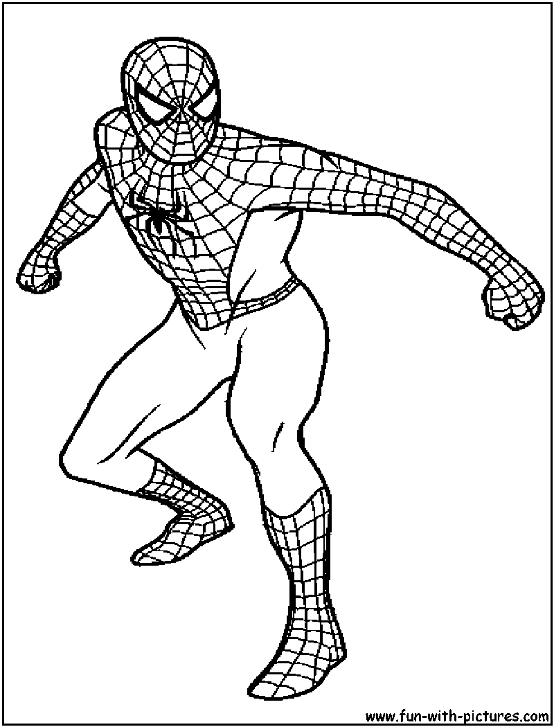 Spiderman coloring pages free printable colouring pages for Spiderman coloring book pages