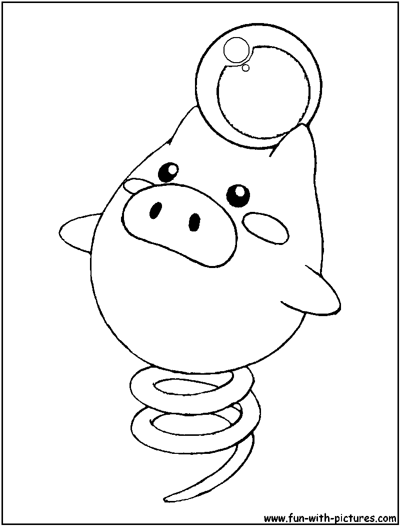 Spoink Pokemon Coloring Page Coloring Pages