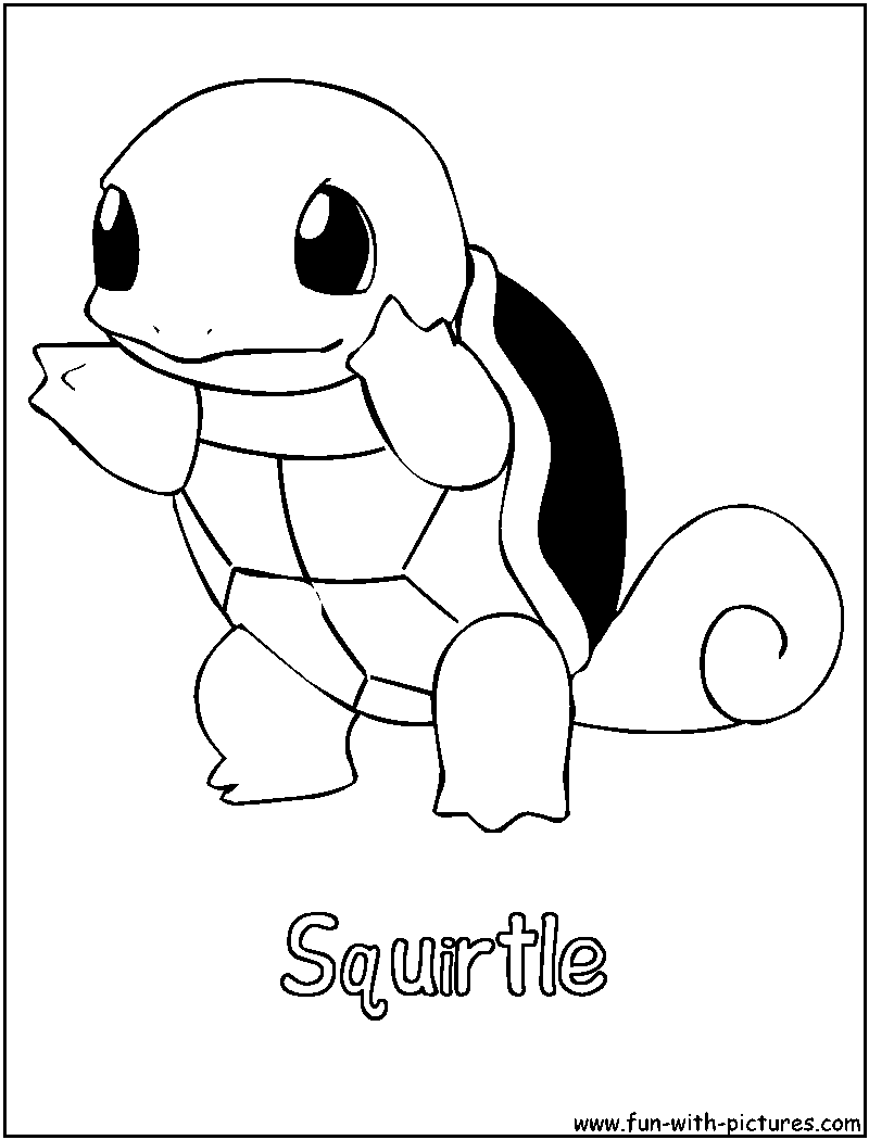 photo relating to Pokemon Stencils Printable named Squirtle Coloring Site