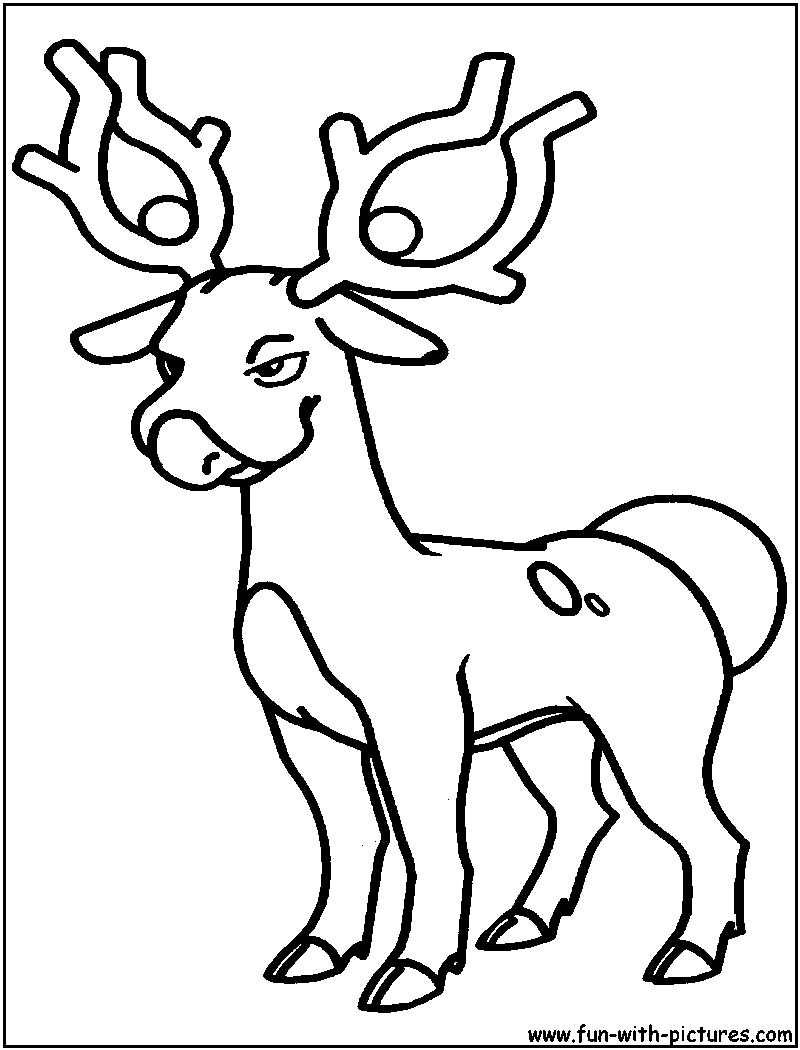 stantler pokemon coloring pages - photo#2