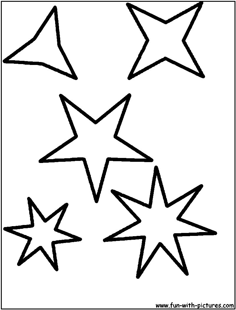 star shape colouring pages page 2