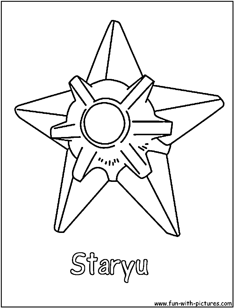 staryu coloring page - Grass Type Pokemon Coloring Pages