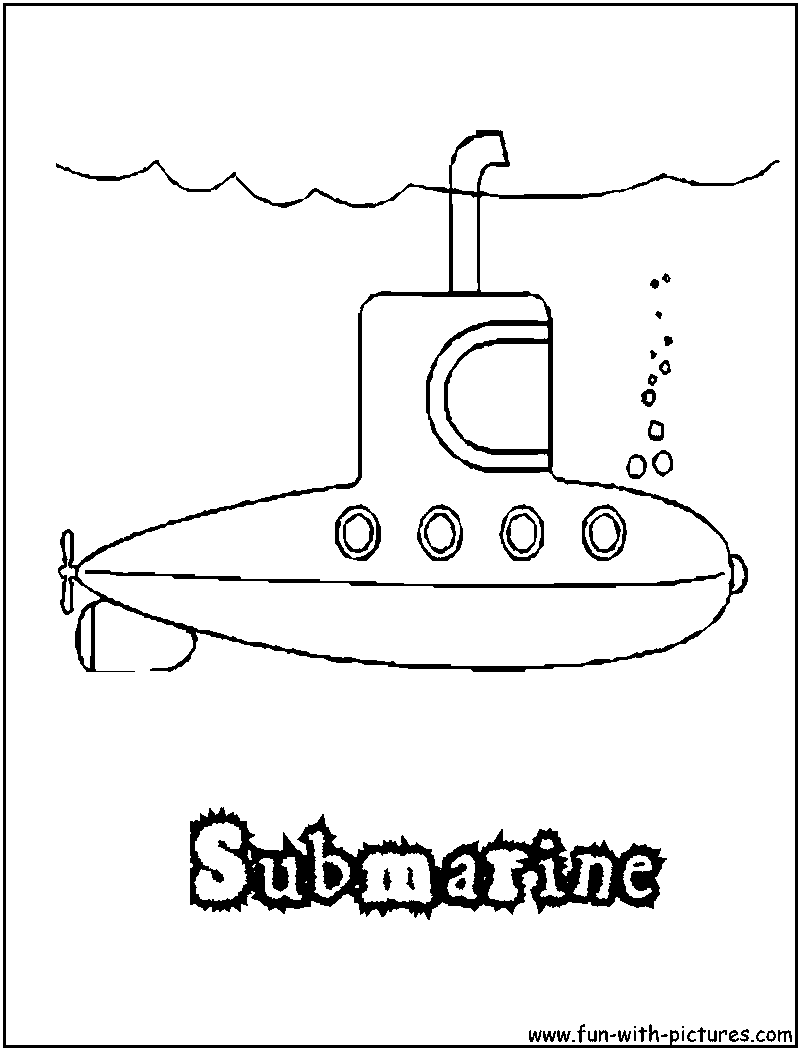 submarine printable preschoolYellow Submarine Stencil