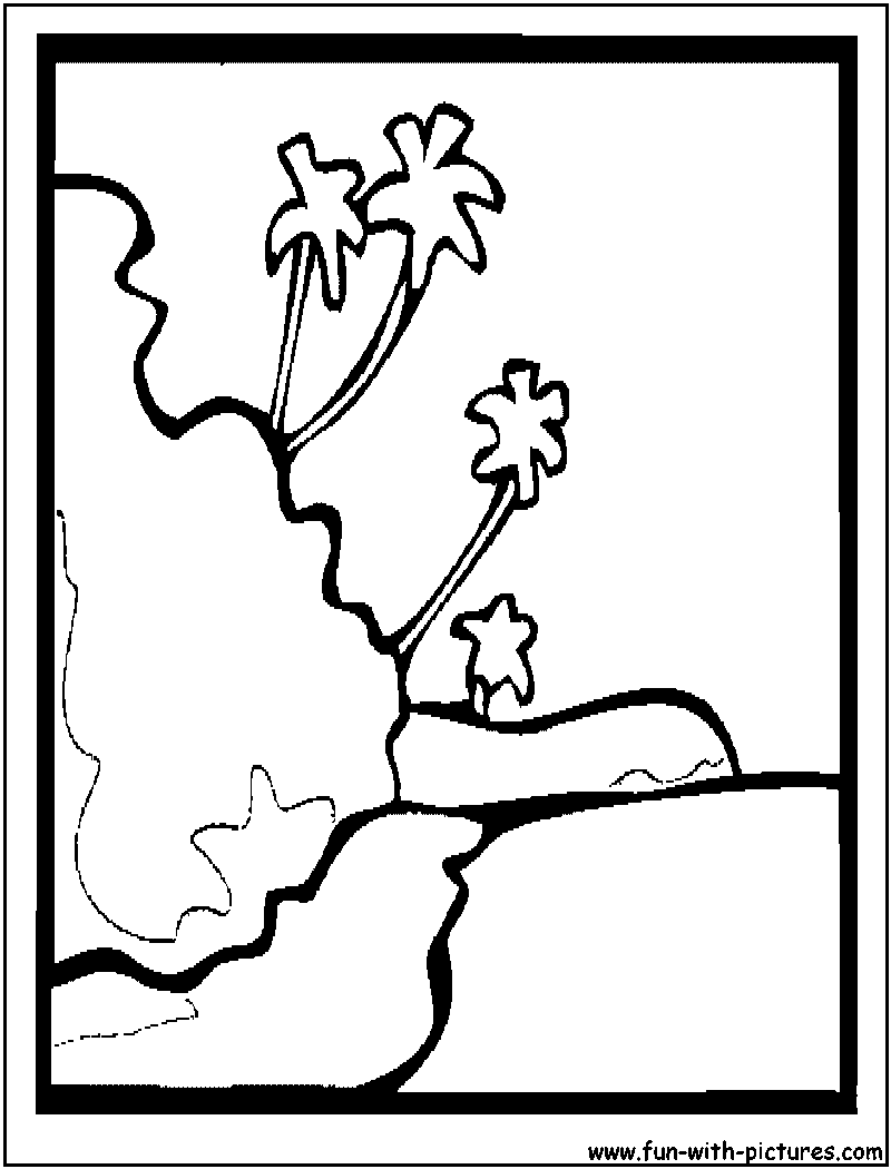 Free coloring pages of hawaiian island