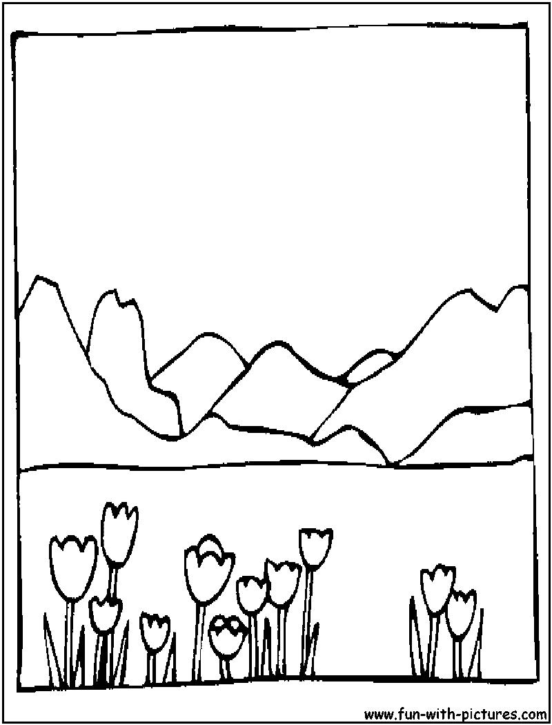 landscape coloring book pages - photo#35