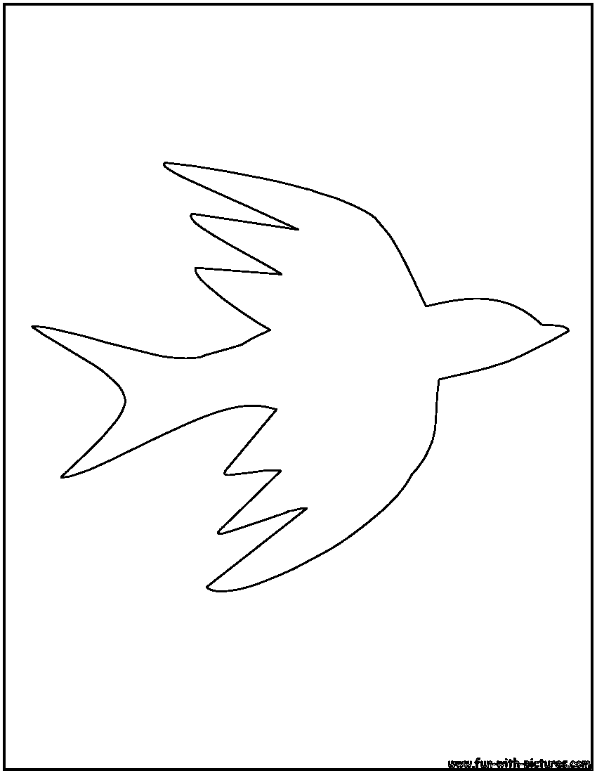 Bird Outlines Coloring Pages Free Printable Colouring