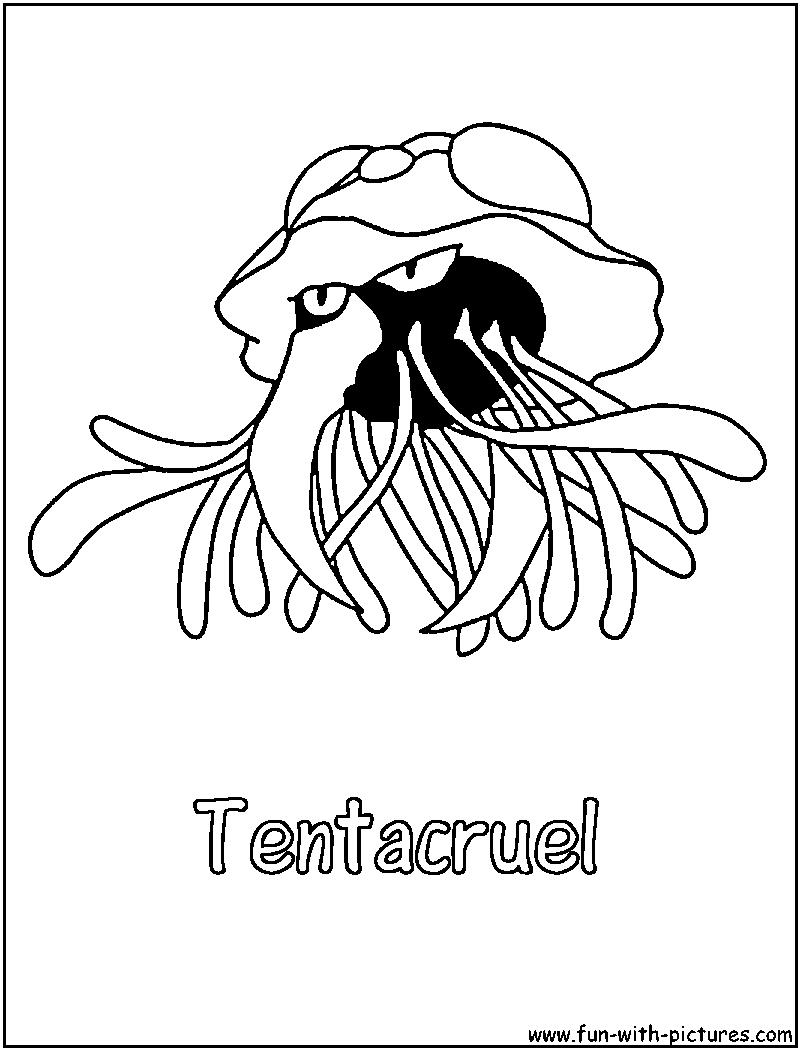 Pokemon coloring pages Tentacruel - Tentacruel Coloring Page