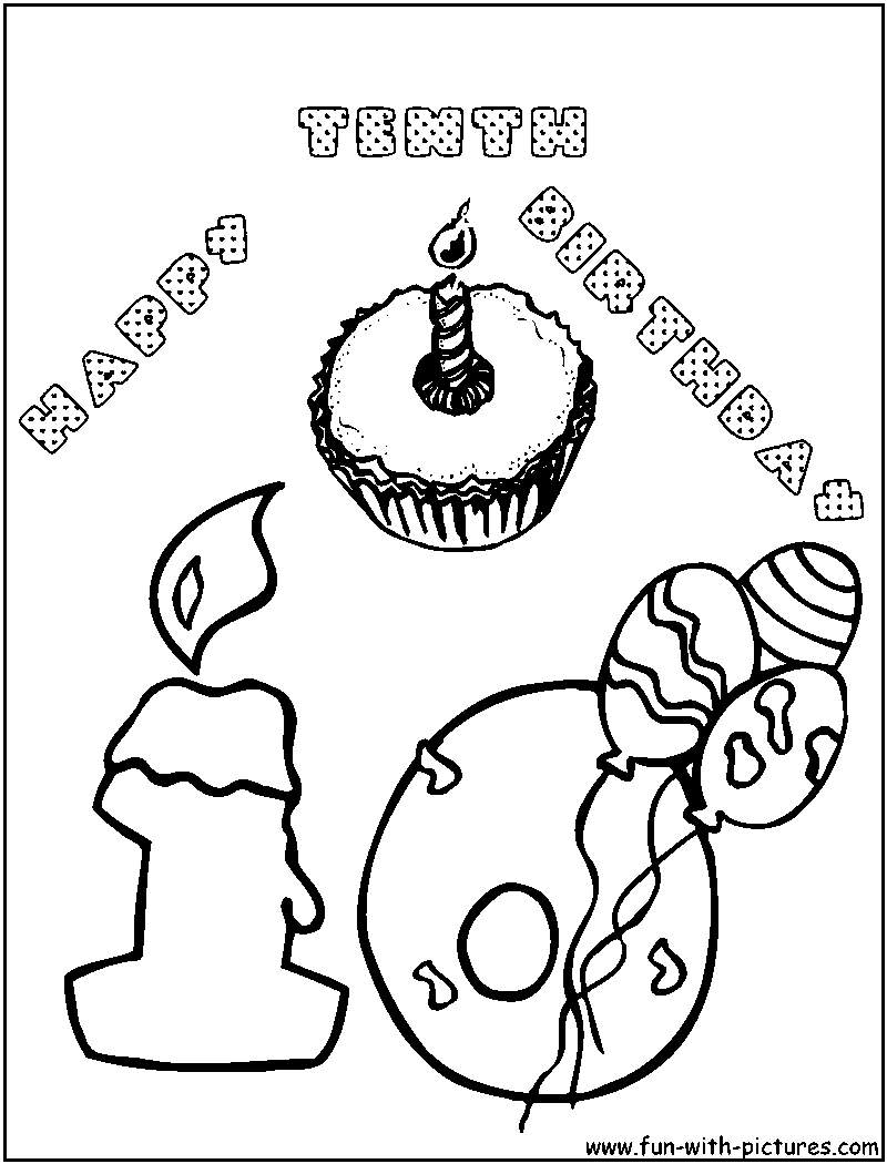 Birthday Coloring Pages - Free Printable Colouring Pages for kids to ...