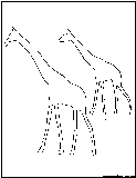 2giraffe outline