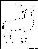 addax antelope outline