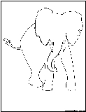 african elephant outline