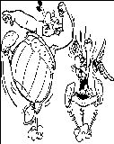 Asterix Jumping Coloring Page