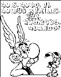Asterix Questions Coloring Page