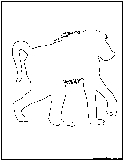 baboon outline