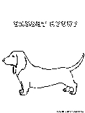 Bassethound Coloring Page