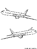 Boeing 777 Coloring Page