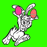 bunnyjuggler- picture of easter bunny