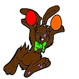 bunnyjuggler1- picture of easter bunny