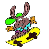 bunnyskater1- picture of easter bunny