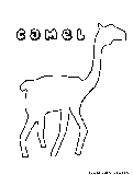 Camel Coloring Page1