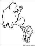 Catwash Coloring Page