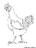 chicken cutout