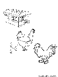 Cock Hen Coloring Page