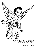 Disney Fairy Iridessa Coloring Page