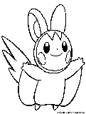 emolga pokemon coloring pages - photo#10