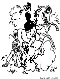 Fall Off Horse Coloring Page