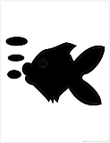 fish bubbles silhouette