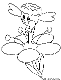 pokemon coloring pages flabebe flower - photo#6
