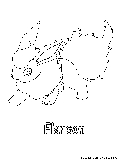 Fire pokemon coloring pages free printable colouring for Flareon coloring page