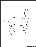 gazelle outline