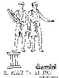 Gemini coloring page for Gemini coloring pages
