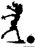 girl football silhouette