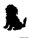 golden retriever dog silhouette