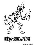 ultimate heatblast coloring pages - photo#15