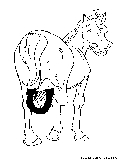 Horse Shoe Coloring Page