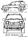 Jeep Cherokee Coloring Page