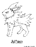 pokemon coloring pages jolteon - electric pokemon coloring pages free printable colouring