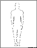 man outline