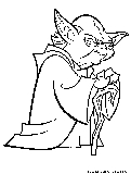 Starwars coloring pages free printable colouring pages for Yoda coloring pages