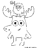 Moose Zee Coloring Page