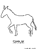 Mule Coloring Page