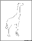 African animal outlines coloring pages free printable for Okapi coloring page